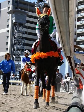 120219ポニーレースin川崎-本馬場入場-誘導馬-今野忠成騎手-01