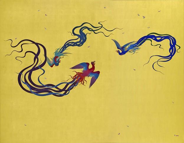 「襖絵 鳳凰」 念佛宗(念仏宗)無量寿寺 佛教之王堂  社寺仏教美術 nenbutsushu005