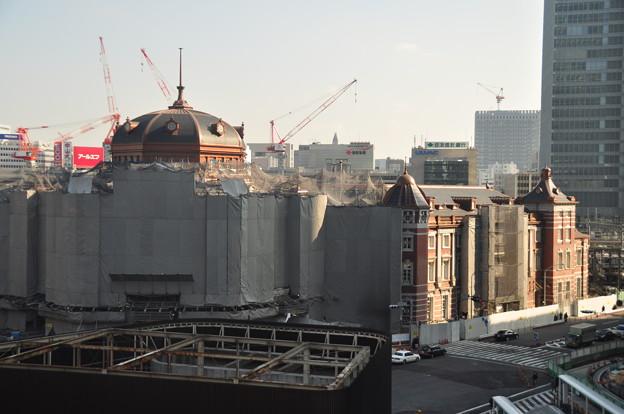 Photos: 上から見た東京駅南口工事現場