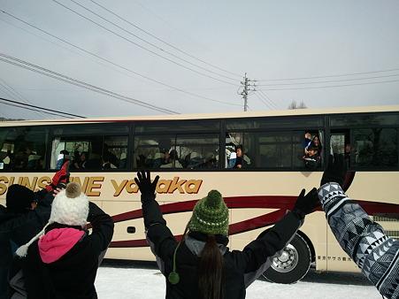 桶川中学校 お見送り2012-01-31 (2)