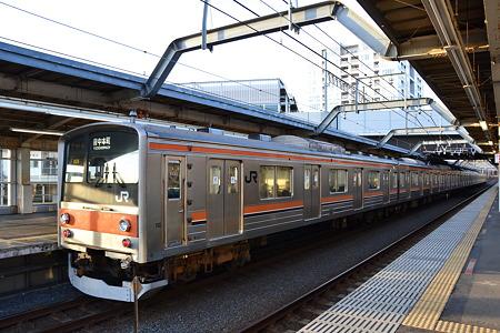 205系[M29編成]@東松戸駅[12/28]