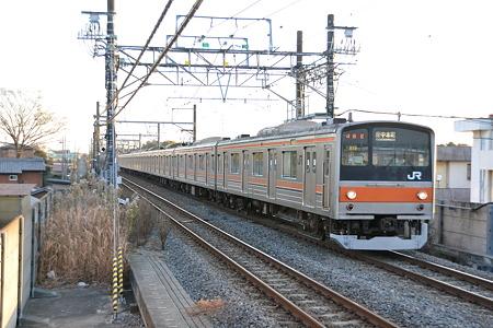 205系[M17編成]@東松戸駅[12/28]