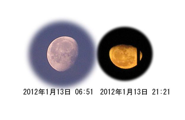 月の出と入りの対比2