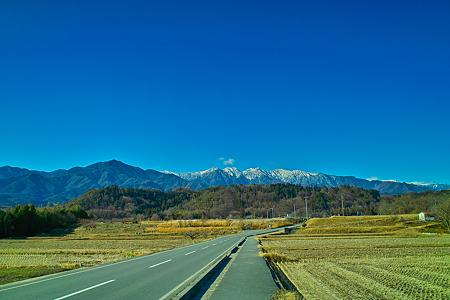 中川村より望む南アルプス(SDIM0661)