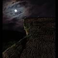 Photos: 月と茅葺