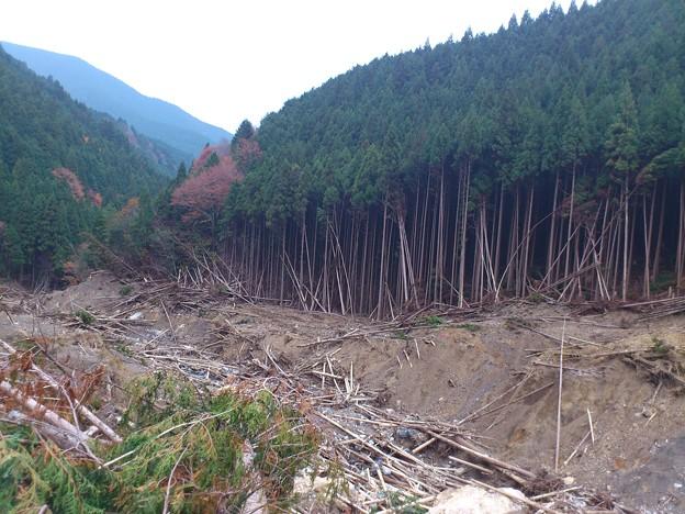 高原~洞川線 土砂崩れ