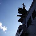 Photos: 逆光の艦橋