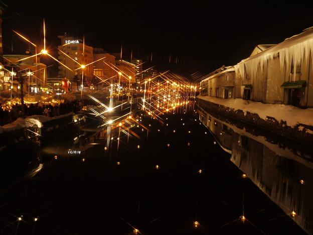 小樽運河の灯り2
