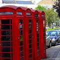 4台の電話ボックス