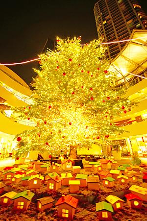 ベイクォーターのクリスマスツリー