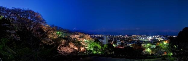 2012年4月6日 船越堤公園 夜桜 パノラマ写真