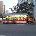 写真: 新潟まつり民謡流しの演奏屋台