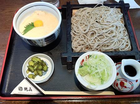 3/30 昼食 鶴喜 健康とろろ丼セット