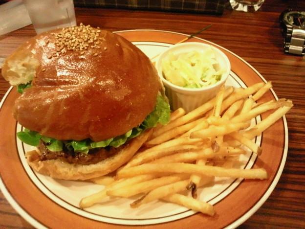 ハンバーガーレストラン Jacksonville ハンバーガープレート