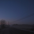 The Road with Telephone Poles