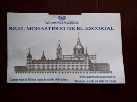 王立エル・エスコリアル聖ロレンソ修道院のチケット