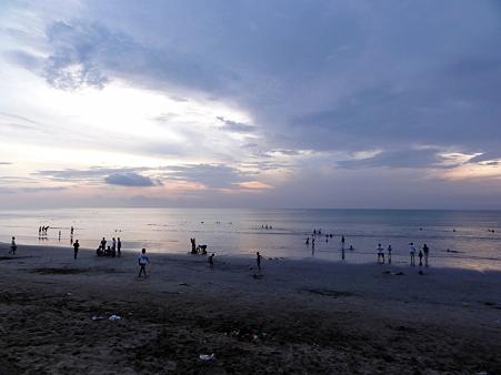 クタ・ビーチの夕日