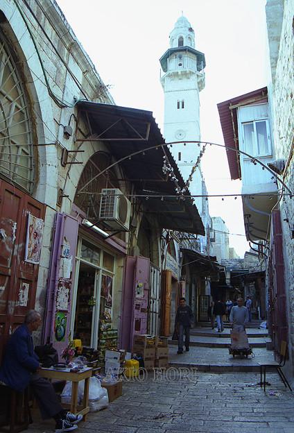 2003年11月、世界文化遺産・エルサレム旧市街(東エルサレム、パレスチナ自治区)を歩く。