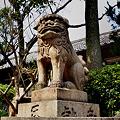 Photos: 東高津宮狛犬阿形
