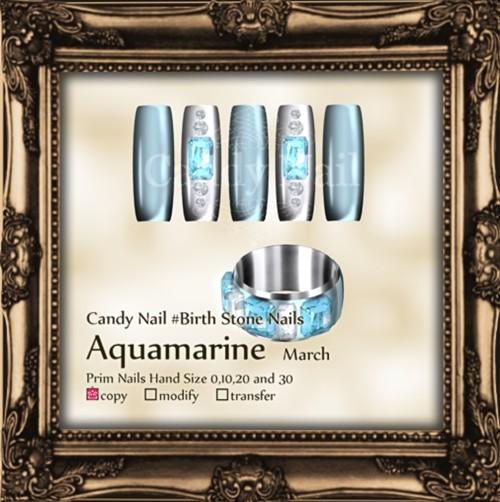 Candy Nail #BS Aquamarine March