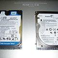 Western Digital Scorpio Blue 2.5inch 5200rpm 1TB 8MB SATA WD10TPVT+内蔵250GB HDD_P5160055