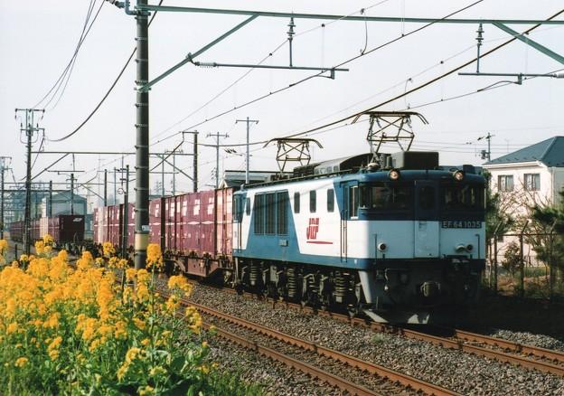 Photos: 菜の花の横を行くロクヨンセン!