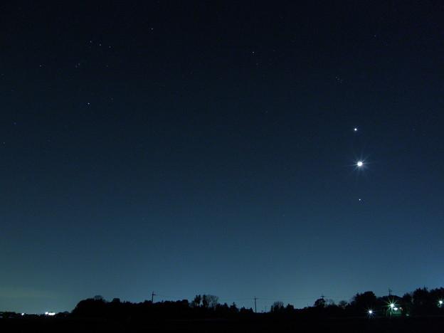 金星、月、木星、Sky Show