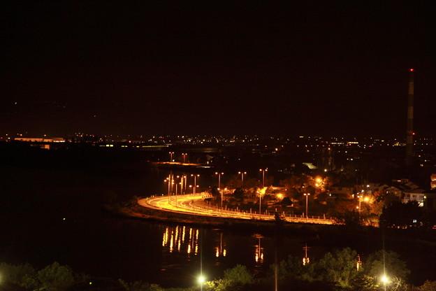 ホテルから 琵琶湖の夜景