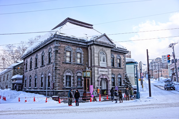 HDR・・雪景色の小樽オルゴール堂