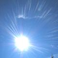 写真: 2007/01/01 03:03 太陽シャワーと龍雲@セドナ