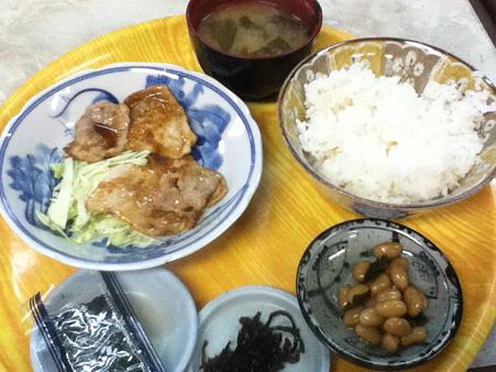 豚生姜焼き定食 470円