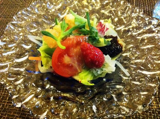 写真: 土浦市 小宮山「サラダ付ラーメン」のサラダ