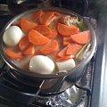 写真: 鍋の準備