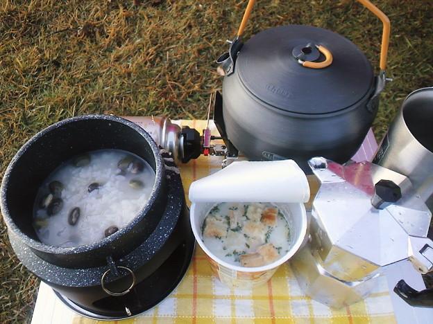 峰山高原キャンプの朝食