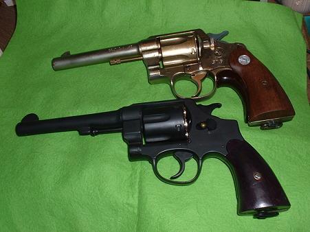 東京マルイ「M29」ベース「S&W M1917」(下)とハドソン「コルト M1917」Doburoku-TAO