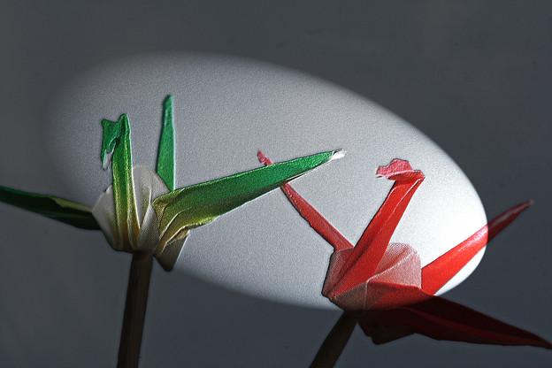 すべての折り紙 折り紙 お見舞い : 写真: 祈りの折り鶴 と希望の光