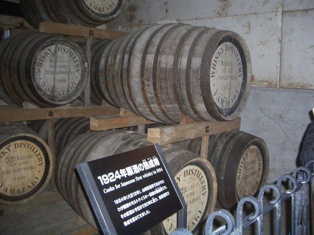 最初の樽もありました@サントリー山崎蒸溜所