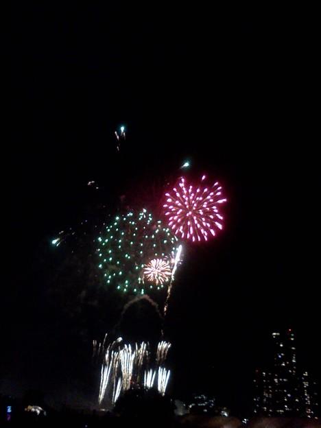 写真: 花火なう。