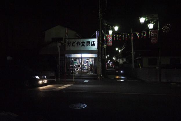 黄昏の商店街