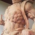 Photos: 福知山市観音寺。吽形さん。もう2時か…。みんなカッコイイから時間...